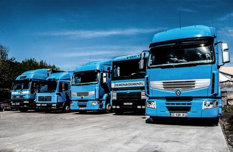 Notre flotte de camions de déménagement et de transport